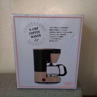 🚚 全新~日本Toffy 復古四杯美式咖啡機-馬卡龍粉