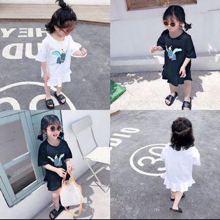 🚚 春季新款 韓版 兒童小飛象卡通長版上衣/洋裝