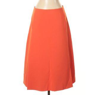COS A Line Pocket Skirt in Orange