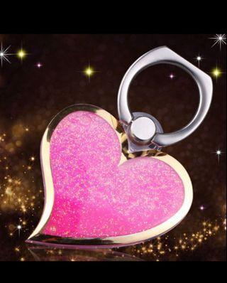 🌸粉色💗流沙手機環/指環/支架🌸