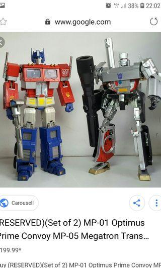Transformers MP-01 & 05 Prime & Megatron