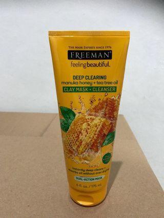 Freeman mask manuka honey tea tree oil