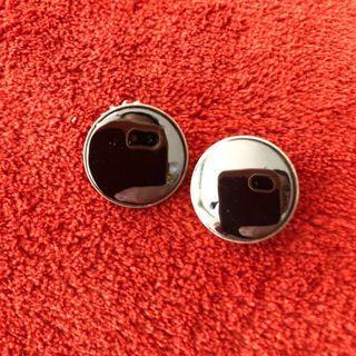 Vintage 835 Silver 1980s Hematite Clip-On Earrings