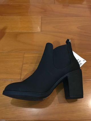 H&M 黑 高跟靴 全新