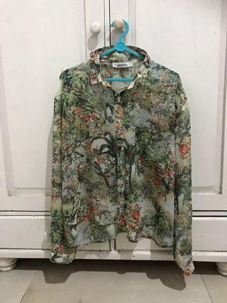 Pull & Bear tropial blouse