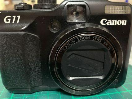 「二手」約7成新Canon PowerShot G11 可翻轉螢幕類單眼相機,狀況良好,功能正常
