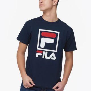 Fila Stacked T-Shirt Navy