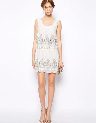 Frock and Frill Double Tiered Dress with Sequin Embellishment