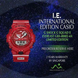 CASIO INTERNATIONAL EDITION G SHOCK X EVERLAST G SQUAD LIMITED EDITION GBA-800EL-4A