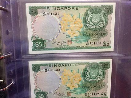 🚚 Singapore Orchid $5