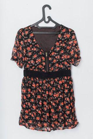 Mini dress Black Floral