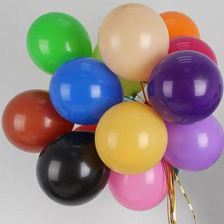 50 pcs Good quality thick matte All color balloons birthday decoration wedding marriage arrangement baloon