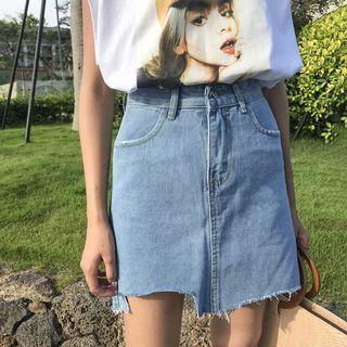 High Waist Light Denim Skirt #EndgameYourExcess