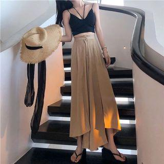 🚚 Brown Culottes with Slits #EndgameYourExcess