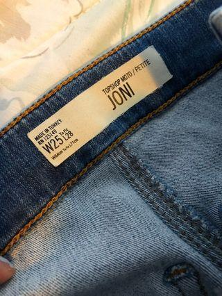 Top Shop Joni high rise skinny jeans #swapca
