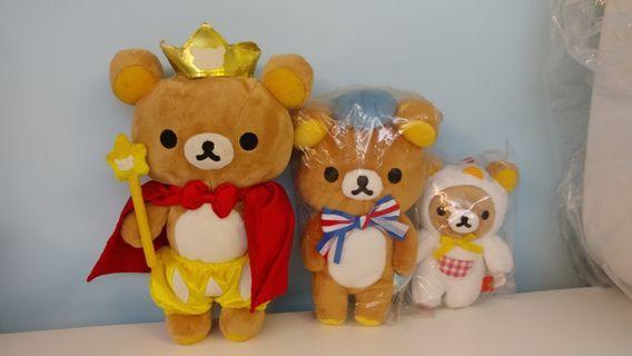 [本人有喜清屋蝕賣] Rilakkuma 輕鬆小熊 3隻