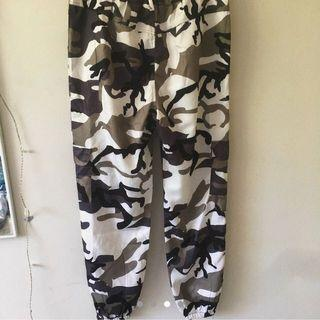 Green/White Cargo Pants