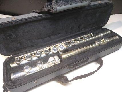 銀笛 FLUTE CHAMPION 16孔 閉孔 長笛初學考級 樂器 含盒