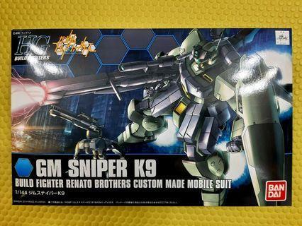 全新HG Gundam build fighter GM sniper K9