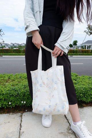 Tree Inspiration Embroidery Tote Bag