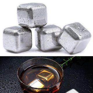 全新 不銹鋼冰塊 Cooling Cubes 速凍飲料 飲酒 威士忌必備