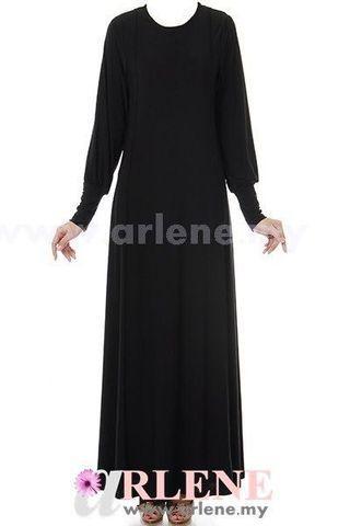 Jubah Dress Hitam
