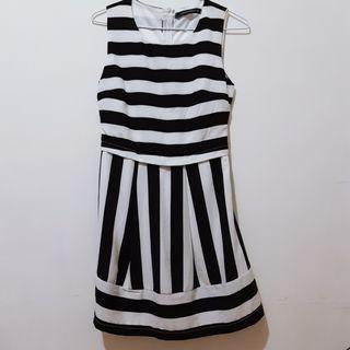 黑白格紋洋裝