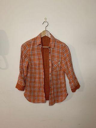🚚 Timberland 女生襯衫 格子襯衫 線條襯衫 可兩穿 w1