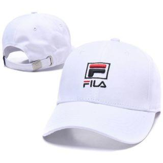 FILA Unisex Baseball Snapback Cap with Adjustable Embroidery