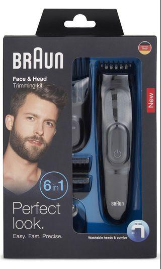 BRAUN 6 in 1 Face and Head Trimming kit