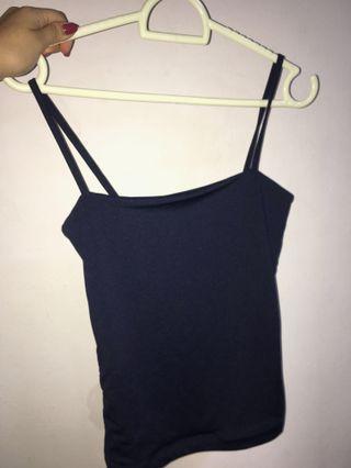 🚚 cotton on freida bodycon top in navy blue