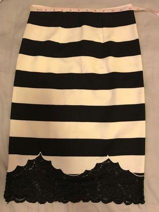 黑白橫條skirt