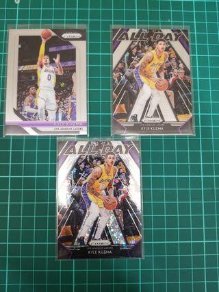 Panini Prizm 2018 - 19 Kuzma fast break card lot