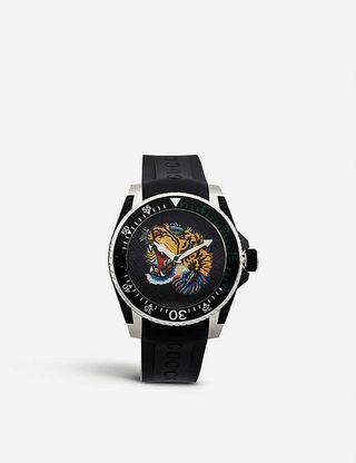 GUCCI  Dive Watch YA136318 古馳潛水Dive虎手錶