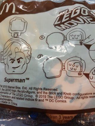 Mcdonalds lego movie superman toy