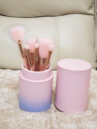 粉紅閃石化妝掃set (9支連盒)