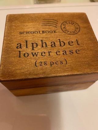 26個英文字母印 細階 木盒