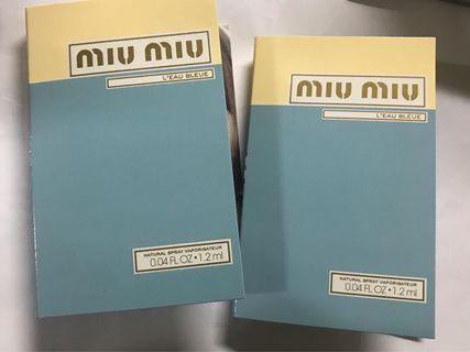 Miu Miu香水 sample 包郵