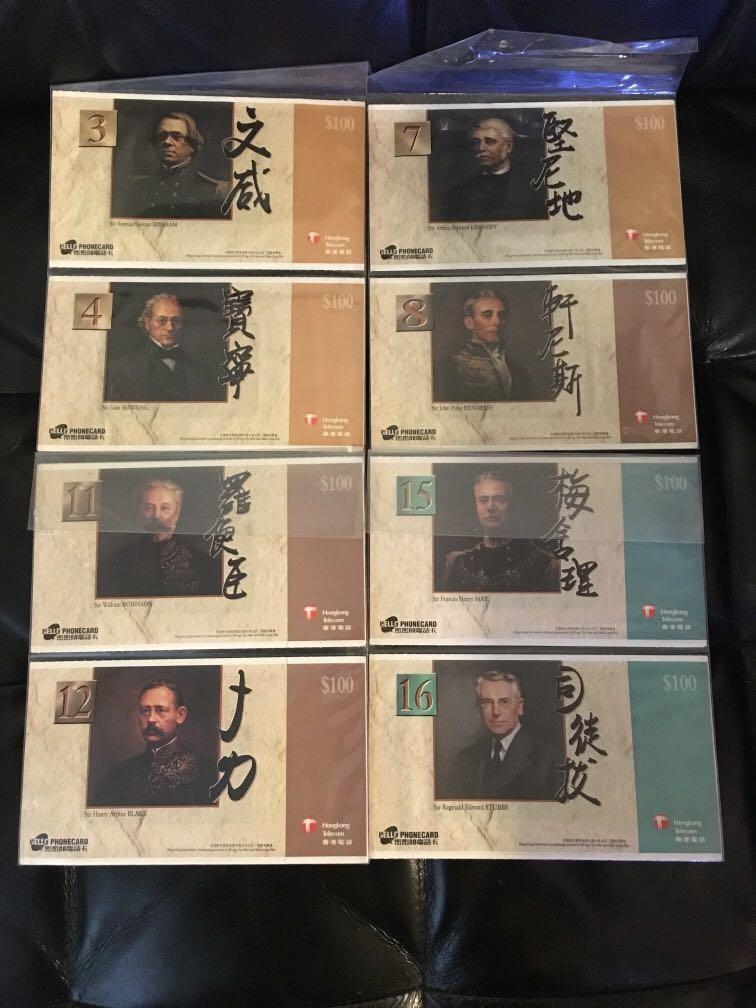 香港歷任28位港島督-全新未拆(密密傾電話咭)