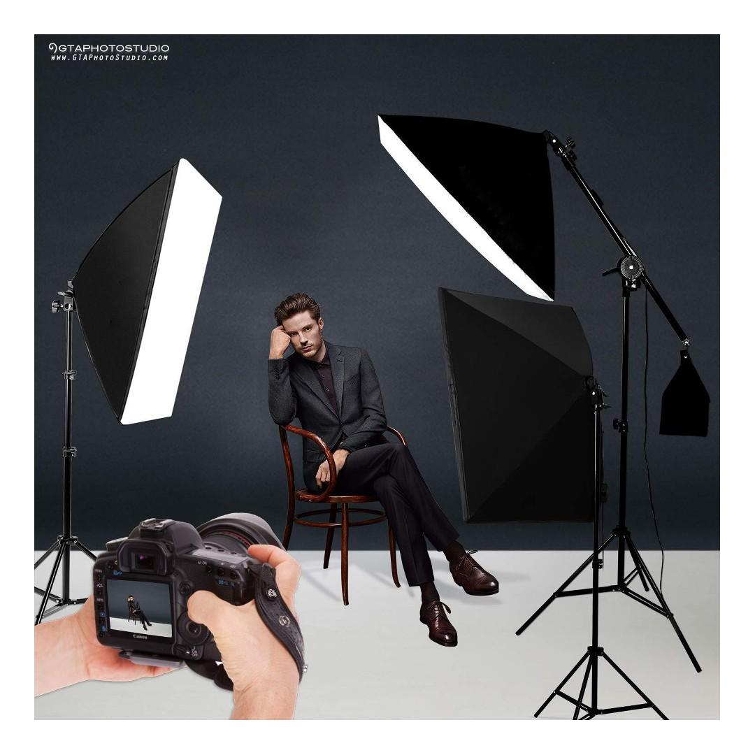 3-Point Photo Video Continuous Softbox Lighting Kit / BRAND NEW / FREE SHIPPING AVAILABLE