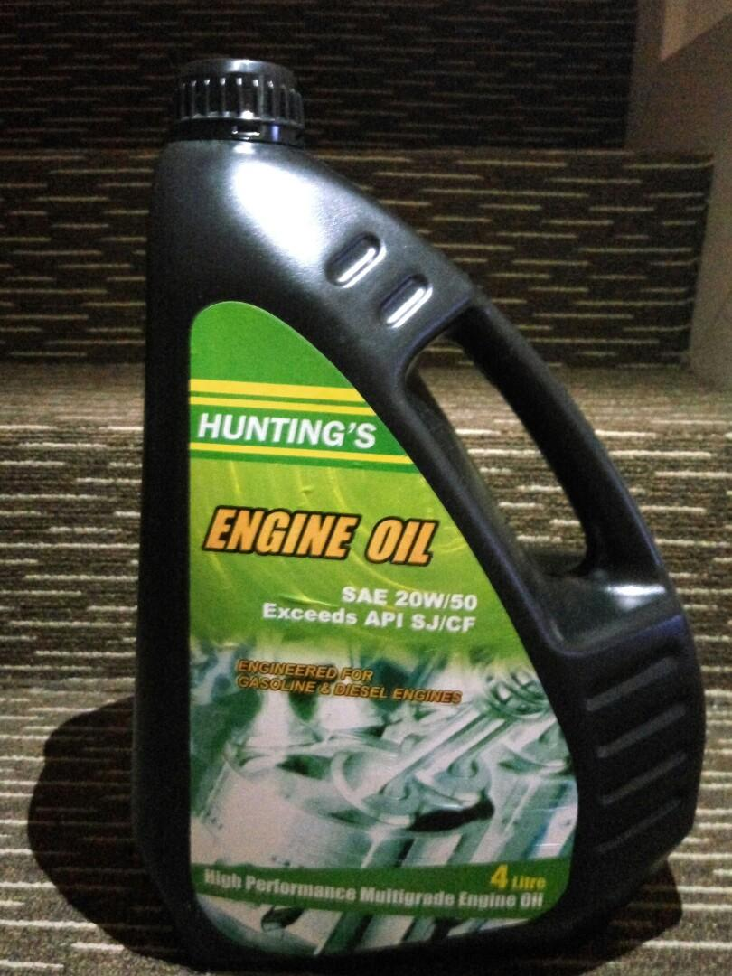 4 Litres Hunting's 20W50 Engine Oil, Car Accessories