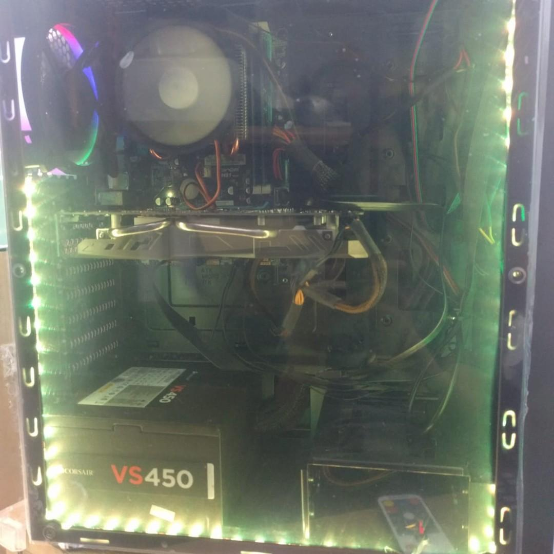 有單據90日保養, i7 4核8線 GTX1060(可升至全新2060/1660/1660ti) 240gb SSD 95%新 打機電腦, 可玩最熱門apex/lol/fortnite/division2等遊戲 Second Hand Desktop On Sale