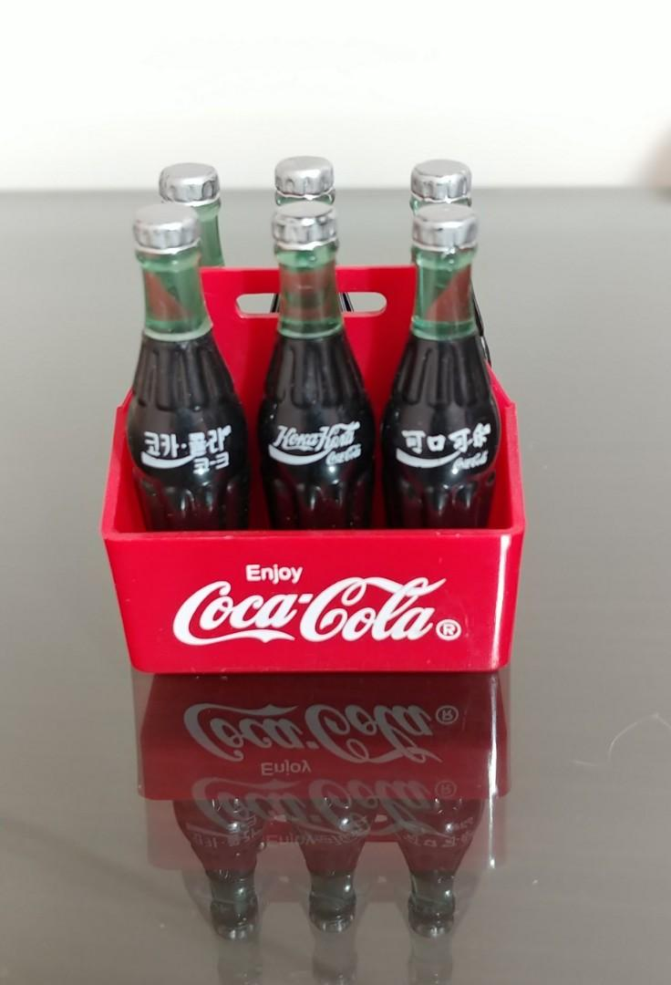 可口可樂絕版藏品哈迪斯迷你可樂 6支 Hardee's Coca Cola miniature bottles