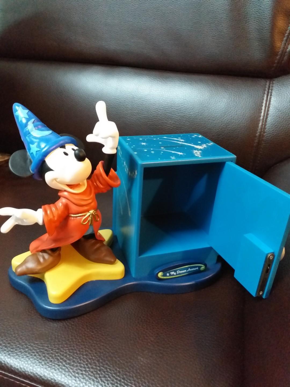 特價 限量版米奇魔術師造型夾萬及置物擺設