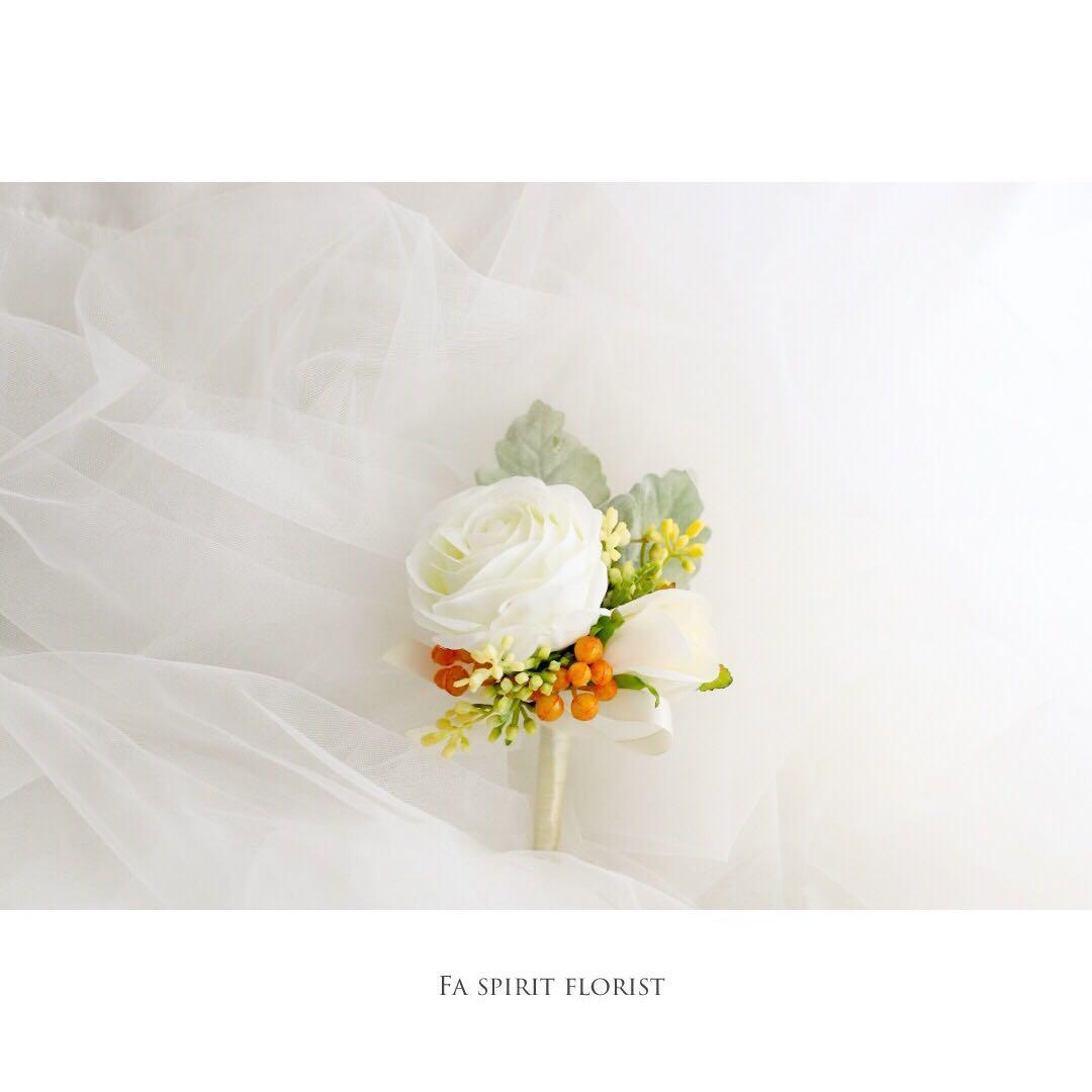 襟花 訂造 花球 結婚花球贈送襟花