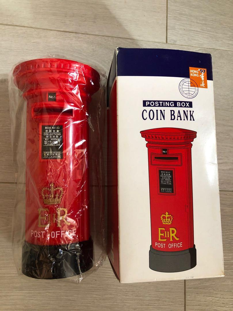 香港郵政署 郵筒儲蓄錢箱 HK Post Office posting box coin bank