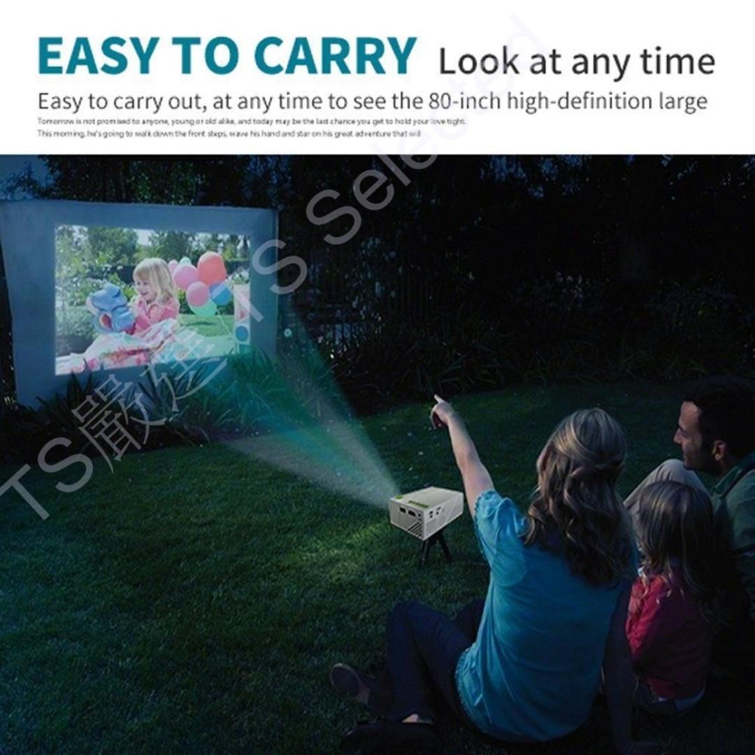 新款 增強版 LED 超 小 微 型 投影 機 HDMI 支援 1080P 格式 播放器 內建電池 大螢幕 迷你 便攜 電腦 高清 隨身 攜帶 家庭 電影院 劇院 露營 追劇 神器 家用 學習 型 非 液晶 電視 手機 推送 投屏 式