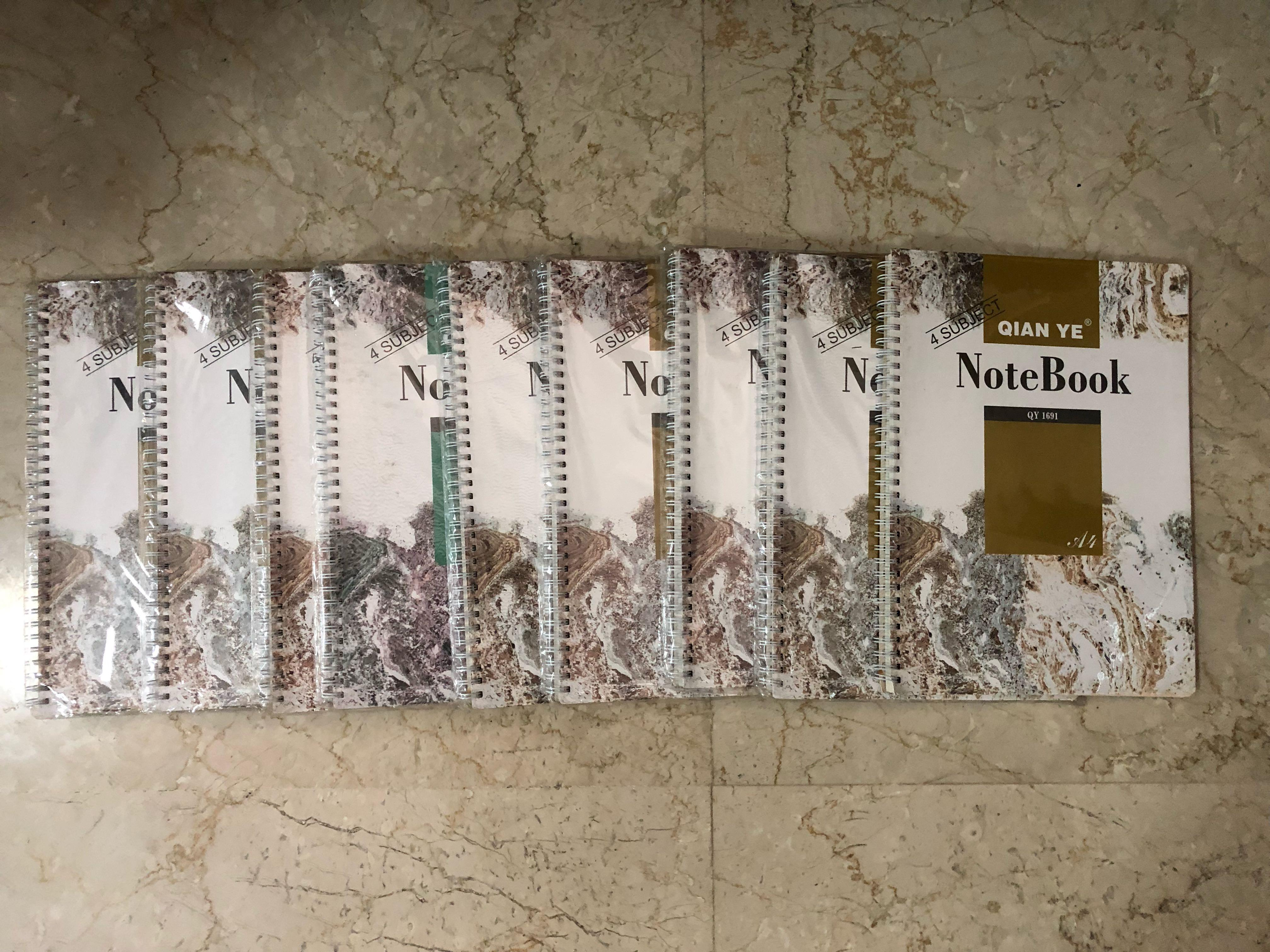A4 sized ringed notebooks