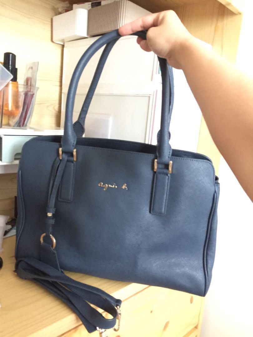 Agnes b. 寶藍色大袋 可上膊