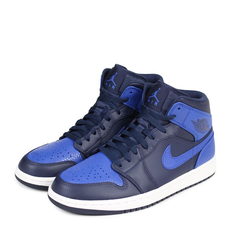 c871c0dcb1e9 Air Jordan 1 Mid Royal Blue Obsidian